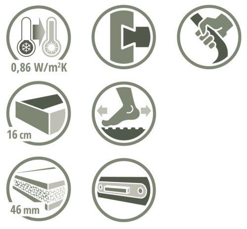 Schody strychowe   Schody Strychowe EXTRA 46 mm,130x80 80x130 PORĘCZ - image 4   marSELL24.eu