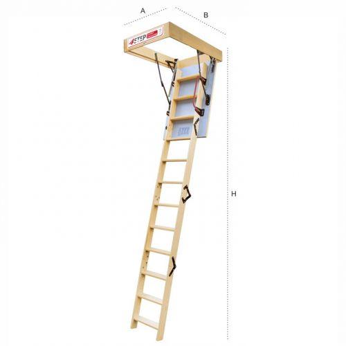 Schody strychowe | Schody Strychowe EXTRA 46mm, 100x80 80x100 +GRATIS - image 2 | marSELL24.eu