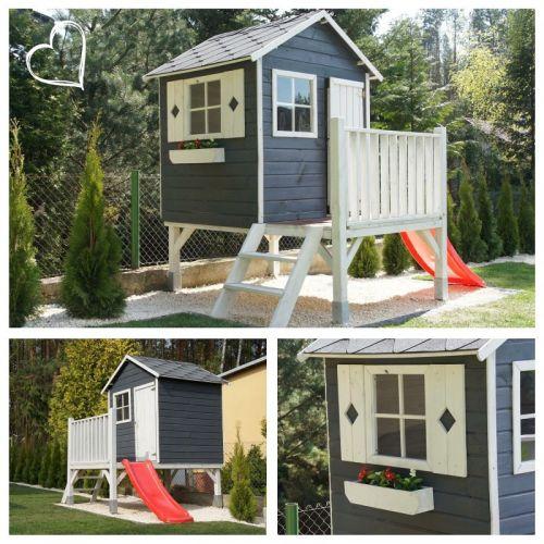 Domki do ogrodu | Drewniany Domek Ogrodowy dla Dzieci TOMEK + ŚLIZG - image 11 | marSELL24.eu