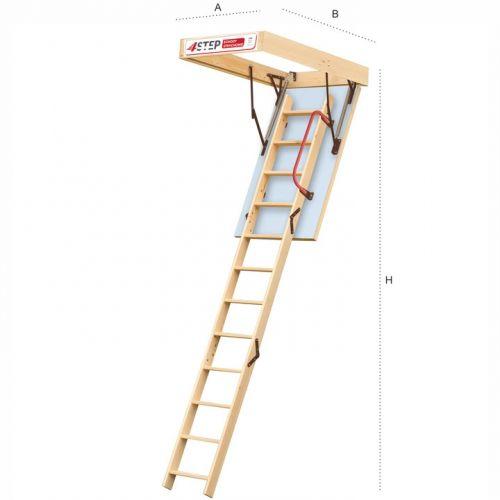 Schody strychowe   Schody Strychowe EXTRA 46 mm,130x80 80x130 PORĘCZ - image 2   marSELL24.eu