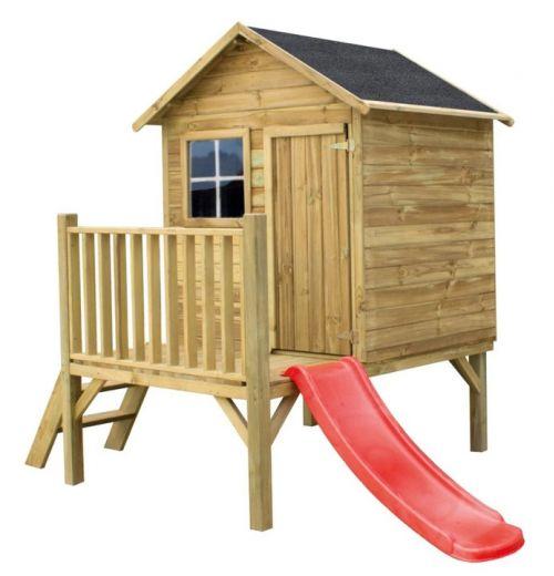 Domki do ogrodu | Drewniany Domek Ogrodowy dla Dzieci TOMEK + ŚLIZG - image | marSELL24.eu