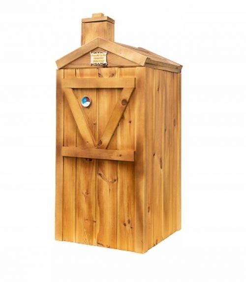 Wędzarnie | Wędzarnia Ogrodowa Drewniana Komin Duża Eko 60x60x120 Domowe Wedliny + palenisko + przyprawy - image | marSELL24.eu