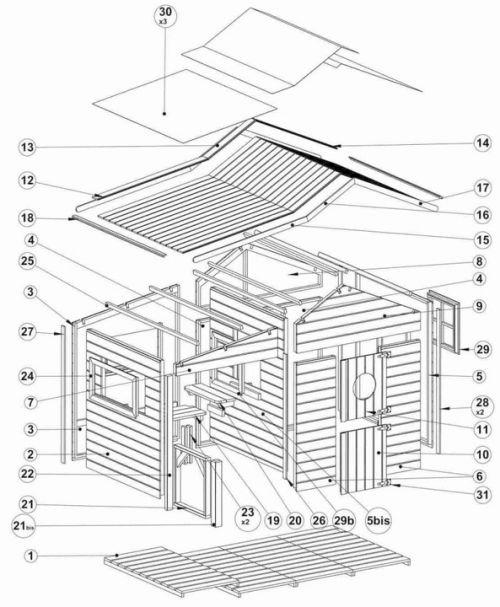 Domki do ogrodu | Drewniany Domek Ogrodowy dla Dzieci ELA od 4iQ - image 7 | marSELL24.eu