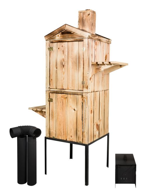 Wędzarnie | Wędzarnia Ogrodowa Drewniana Komin Duża 50x50x170 - image | marSELL24.eu